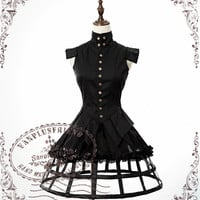 Machine Birdcage Steampunk Dandy Slitting Sleeves & Bottom Doublet Jacket