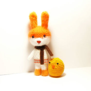 "Bunny Amigurumi Crochet mohair  ""Louise"", Bunny Crochet Toy, Bunny Toy, Rabbit, Animal Crochet"