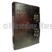 Real Leather Embossed Pentagram Spell Book