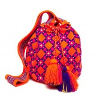 Hot Orange Cartagena Mochila Tassel Bag - MISS MOCHILA Hot Orange Cartagena Mochila Tassel Bag