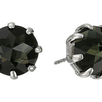 Rebecca Minkoff Rhinestone Stud Earrings Imitation Rhodium/Black Diamond - Zappos.com Free Shipping BOTH Ways