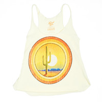 Desert Sunset Racerback Tank - Dirty White