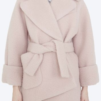 Carven 'Winter 2015 Introduction' - Blush coat