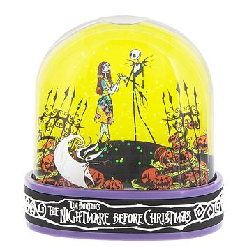 Disney Snow Globe Sally Jack Skellington Nightmare Before Christmas New