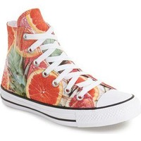 Converse Chuck Taylor? All Star? Grapefruit Print High Top Sneaker (Women) | Nordstrom