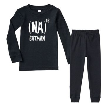 '(na) 16 batman' funny mens funny movie Infant long sleeve pajama set