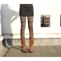Western Fashion Mix-Matched and Elastic Leopard Pattern Embellished Leggings China Wholesale - Sammydress.com