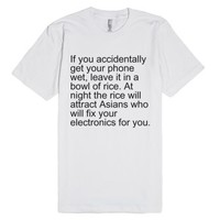 Asians and electronics-Unisex White T-Shirt