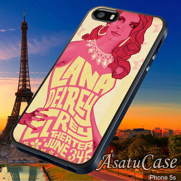 Lana Del Rey - Samsung Galaxy S2/S3/S4,iPhone 4/4S,iPhone 5/5S,iPhone 5C,Rubber Case,Cell Phone,Case,Accessories - 030214/CA23