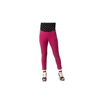 Signature By Levi Strauss & Co Women's Ankle Skinny Jeans, 8M, Sizzling Fuchsia