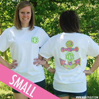 Monogrammed Preppy Anchor White T-Shirt   Clothing   Marley Lilly
