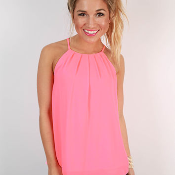 Good News Only Tank in Neon Pink