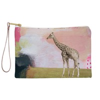 Natalie Baca Abstract Giraffe Pouch