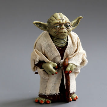 Star Wars Jedi Knight Master Yoda 12cm Action Figures toys Collection brinquedos for christmas gift