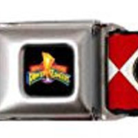 Power Rangers Red Uniform Pet Collar, Small