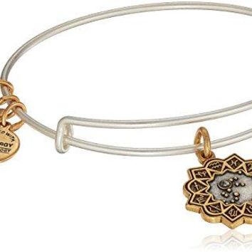 Alex and Ani Womens Aquarius Two Tone Bangle Bracelet