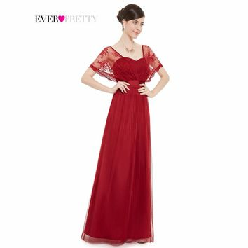 [Clearance Sale] Prom Dresses 2017 Elegant Burgundy Lace Wraps Chiffon Long Red Prom Dresses HE08450RD Special Occasion Dresses