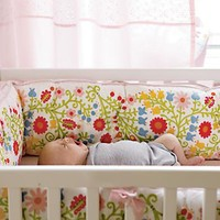 The Land of Nod: Baby Crib Bedding: Baby Floral Crib Bedding Set in Crib Bedding