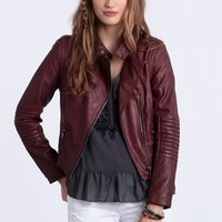 Heart Moto Jacket By Black Swan
