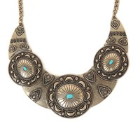 Anastasia Ashley Moon Stone Statement Necklace - Womens Jewelry - Gold - One