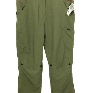 Woolrich Hickory Pass Pant Light Olive Hiking Convertible Nylon Pants Women's M - NWT