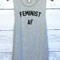 Feminist AF Muscle Tank Top