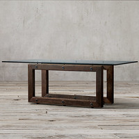 Reclaimed Brazilian Wood Rectangular Dining Table