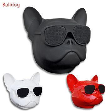 Bulldog Wireless Bluetooth Speaker Deep Bass Bulldog Speaker Subwoofer Multipurpose Portable Loud Speaker TF card Mp3 player