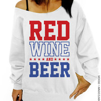 Red Wine and Beer – Slouchy Oversized Sweatshirt