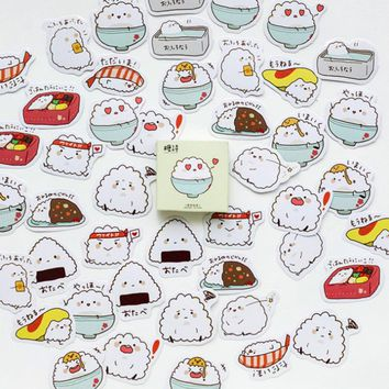 45 pcs /box Creative cute Small rice stickers diy adhesive paper Scrapbook Notebook decoration sticker stationery kids gifts