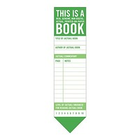 This Is a Real, Actual, Printed on Paper Book Bookmark Pad in Green