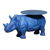 Electric Blue Rhino Side Table