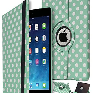 iPad Mini 2 Protective Polka Dot Kickstand Case with Swivel Stand