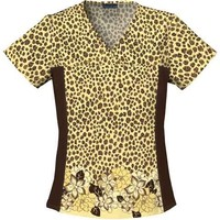Cherokee V-Neck Top in Leopard Chic