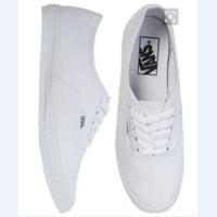 Vans White/Black Canvas Skate Shoes