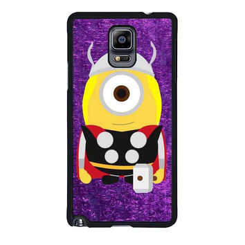 thor minion the avengers purple art samsung galaxy note 4 note 3 cover cases