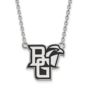 NCAA Sterling Silver Bowling Green State Large Enamel Necklace
