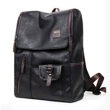 2016 Hot Sale PU Patent Leather Backpacks Western Style Fashion Bag For Men Laptop&Casual Travel Mochila Casual Bags