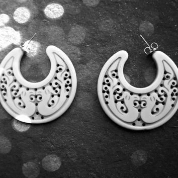 Vintage Carved Tribal Earrings