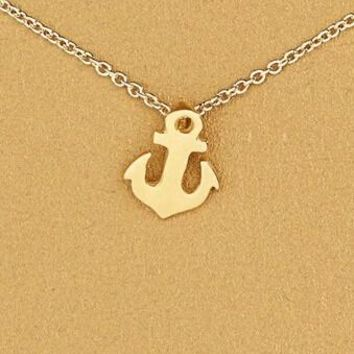 Sparkling Friendship Anchor Pendant Clavicle Chains Necklace
