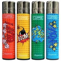 "Bundle - 4 Items - Clipper Lighter ""Graffiti"" Collection"