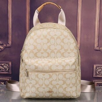 Coach New Fashion Women Leather Bookbag Shoulder Bag Handbag Backpack