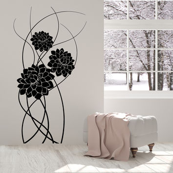 Vinyl Wall Decal Art Beautiful Bouquet Of Flowers Nature Stickers Unique Gift (1334ig)