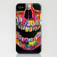 Chromatic Skull iPhone & iPod Case by John Filipe