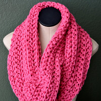 Hand Crochet Chunky Neckwarmer. Crochet Cowl. Women's Fashion scarf. Free US shipping