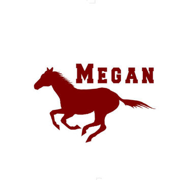 Personalized running Horse Western wall decal Customized girl or boys room decor wall decal art