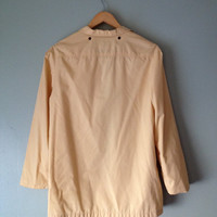 60s Yellow London Fog Bomber Jacket sz 7/8 Rain Coat