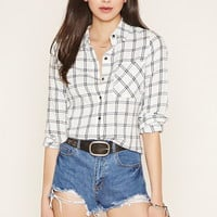 Cotton Plaid-Patterned Shirt | Forever 21 - 2000170549
