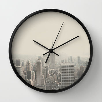 NEW YORK CITY Wall Clock by Shilpa