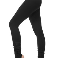 Extra Long Yoga Leggings - Special Leggings with Spats - Women's Yoga Bottoms